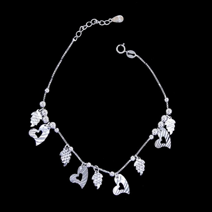 Customized Silver Chain Bracelet Jewelry Imperial Crown Shape For European