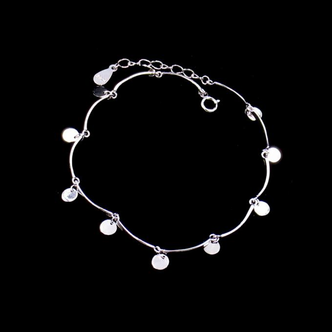 Minimalist Style Plain Silver Bracelet 925 Jewelry Display With Big Heart