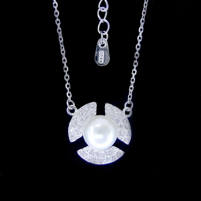 Lucky Silver Pearl Necklace Pure 925 With Horseshoe U Shape Items