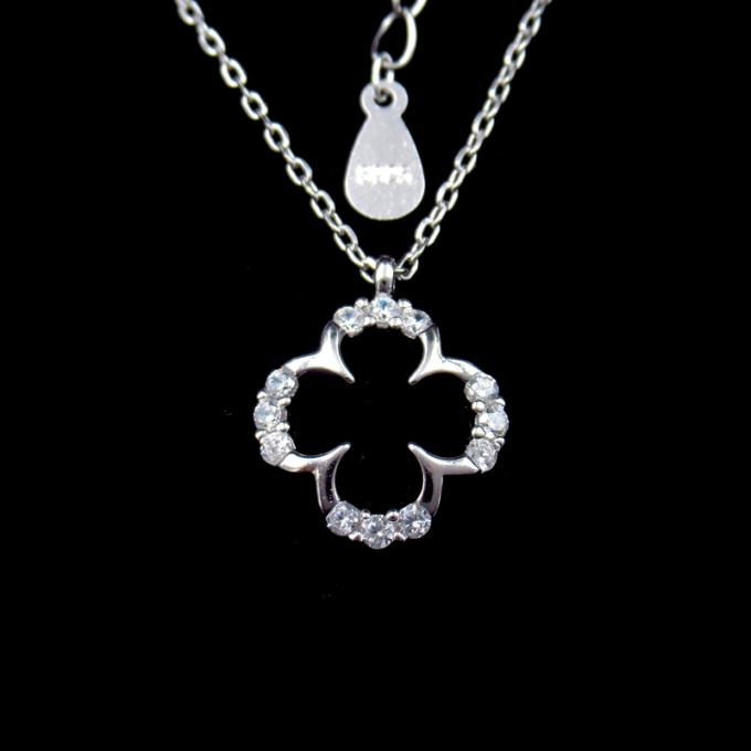 Butterfly 925 Sterling Silver Curb Chain , Cute Cubic Zirconia Drop Necklace