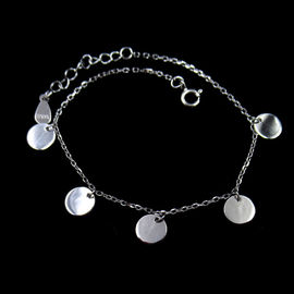 Minimalist Style Silver Charm Bracelet Jewelers With Sequins Design
