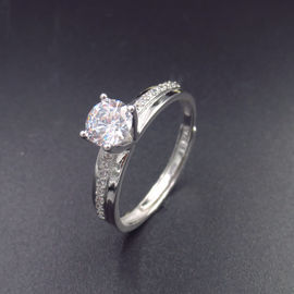 China S925 H&A Elegant Engagement Ring Shining Zircon For Wedding Bridal factory