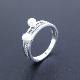Unusual Shape Natural Freshwater Cultured Pearl Ring Pure 925 Silver