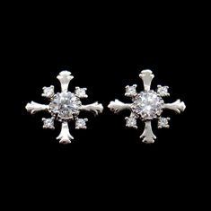 Customized Size 925 Silver Earrings With AAA Grade Cubic Zirconia