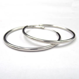 Fashion Design Sterling Silver 925  Hoop Earring