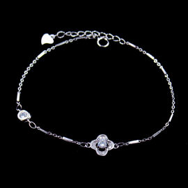 Elegant 925 Silver Tennis Bracelet / Cubic Zirconia Wedding Necklace