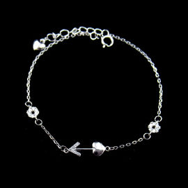 Eco Friendly Plating Silver Cubic Zirconia Bracelet Nickel Free And Lead Free