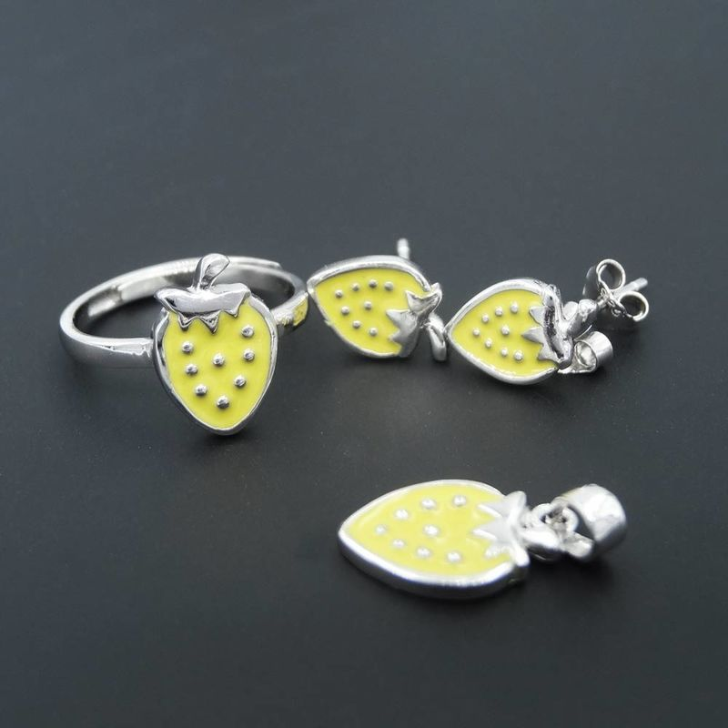 Selected Color Baby Jewellery Silver / Cute Sweet Strawberry Jewelry supplier