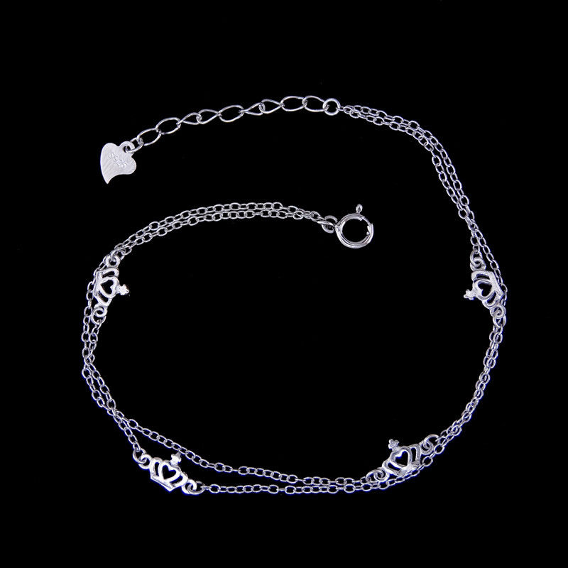 Customized Silver Chain Bracelet Jewelry Imperial Crown Shape For European supplier