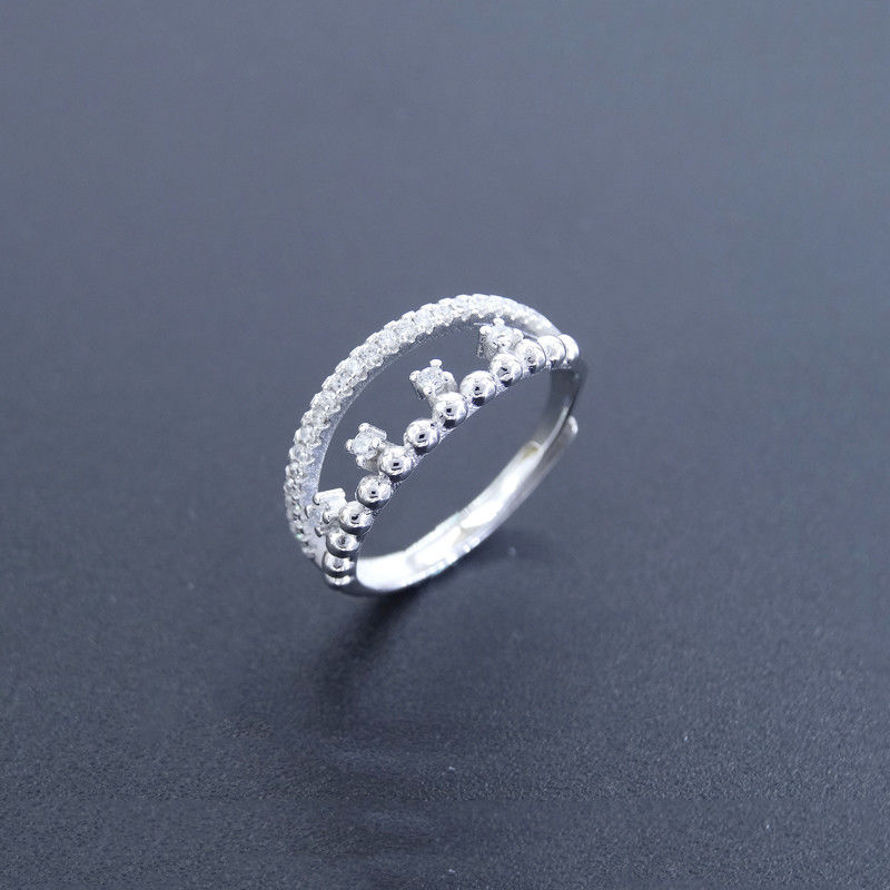 Personalized Silver Cubic Zirconia Rings Pure Silver Jewelers For Girls supplier