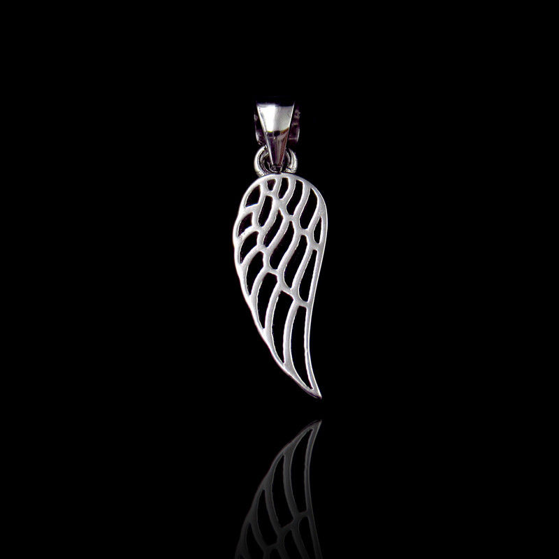 Fashion Plain Silver Pendant / Real 925 Silver Feather Pendant For European Women supplier