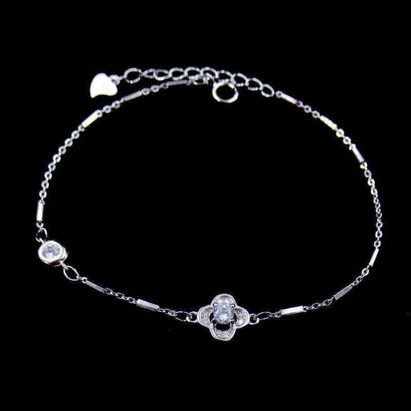 Elegant 925 Silver Tennis Bracelet / Cubic Zirconia Wedding Necklace supplier