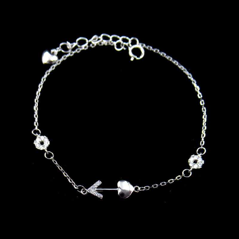 Eco Friendly Plating Silver Cubic Zirconia Bracelet Nickel Free And Lead Free supplier