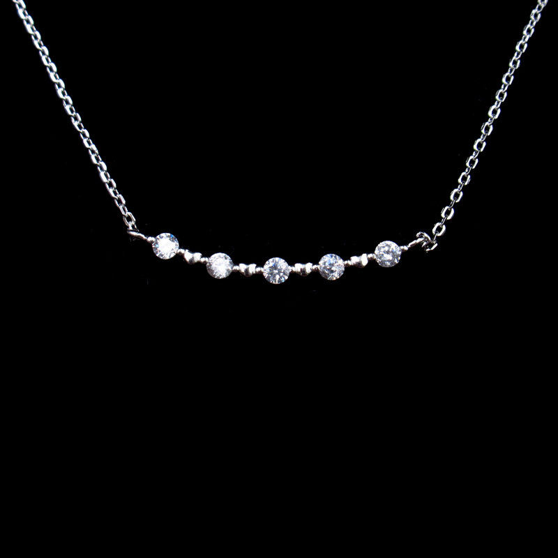 Elegantly 925 Silver Necklace Wedding Gift AAA Cubic Zirconia Stone supplier